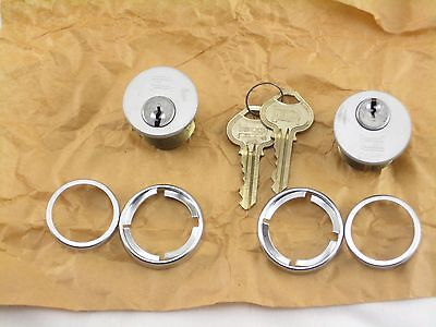 Russwin Mortise Lock Cylinder 2 With Keys N.O.S.