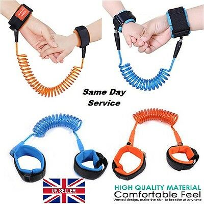 UK Kid Baby Safety Anti-lost Strap Link Harness Child Wrist Band Belt BQP