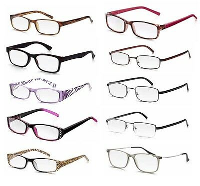 Reading Glasses Strength +1.25 to +3.50 Unisex Mens & Womens Eyeglasses