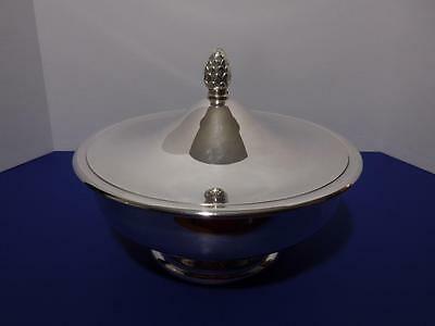 Vintage Crescent Silver Plate Bowl with Cover