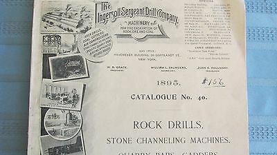 Rare 1895 Ingersoll-Sergeant Drill Company Catalog-Mining Explosives-Equipment