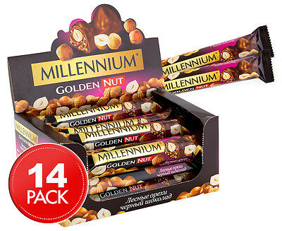 14 x Millennium Golden Nut Chocolate Bars 40g