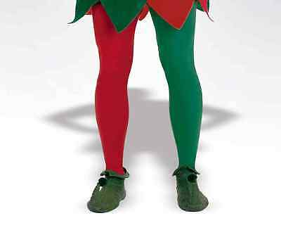 Red Green Elf Christmas Stockings Tights PLUS Size Adult Costume Accessory NEW