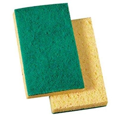 3M 74N Green Scrub Sponges (20/cs) -- Blasts Nastiest Crud Way Faster