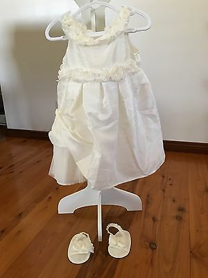 baby size 0 dress matching shoes lined tulle skirt