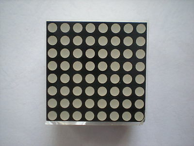 20 x LED Display Dot Matrix Common Cathode Red 3mm 8x8
