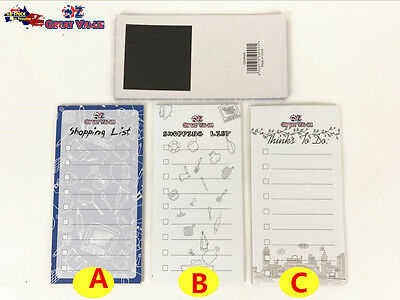 Magnetic Note Pad Shopping List Things To do List Memo Pad Home School Office OZ