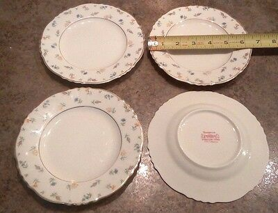 Syracuse China Federal Shape Suzanne - Floral - Bread Butter Plate - Set of 4