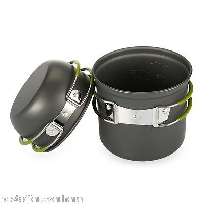 Hot Camping Hiking Picnic Backpacking Tableware Pot Pan with Foldable handle
