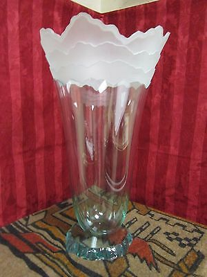 Scapes Art Glass Vase by Stephen Schlanser 1992 Signed And Dated.