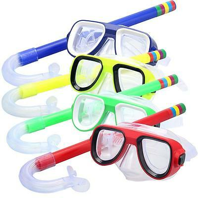New Children Kids Junior Swimming Diving Scuba Goggles Glass Mask Snorkel Set