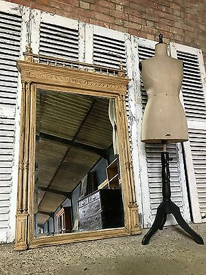 Lovely Vintage Antique Large French Painted Bevelled Mirror