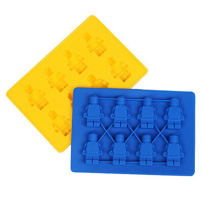 Sweet Mold Candy Minifigure Figures Tray Bricks Mold Silicon Chocolate Ice Cube