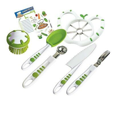 CURIOUS CHEF Fruit and Vegetable Chef Kit 6 Pieces  Plastic