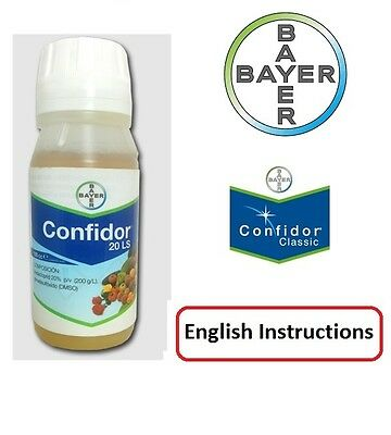 Original Bayer Insecticides CONFIDOR  Vegetable Trees Bug Killer 50ml .