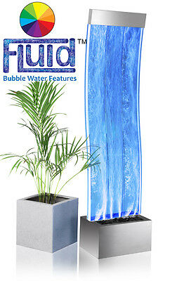 Curved Wall Bubble Jet Water Feature Fountain Free Standing Contemporary Indoor