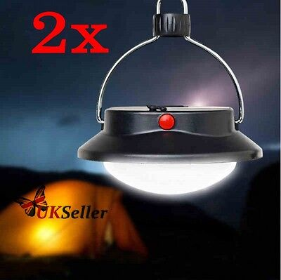 2 x 60 LED Ultra Bright Rechargeable Camping Tent Light Lantern Fishing Lamp