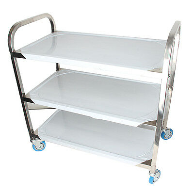 Industrial Commercial 3-Shelf Stainless Steel kitchen restaurant Utility Cart US