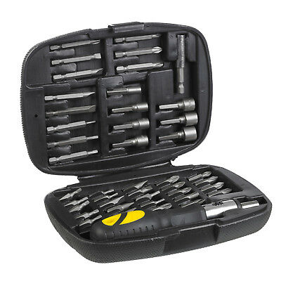45 Pc Ratchet Screwdriver Multi Bit Tool Kit Set + Case - Ratcheting Handle