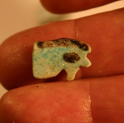 Ancient Egypt,  Faience Eye Of Horus Amulet. 1075 - 600 B.