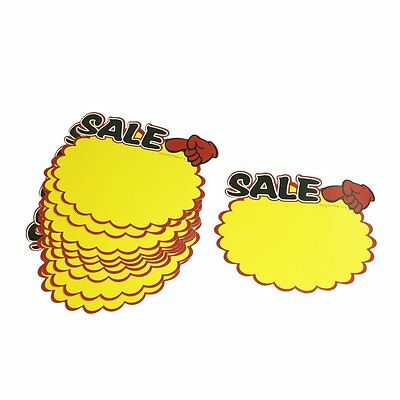 SS Supermarket Sale Promotion Advertising Sign Price Tags POP Paper 10 Pcs