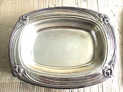 1847 Rodgers Bros. Silver Plated  Daffodil Pattern  Footed Deep Tray - Stunning