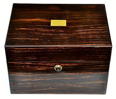 A Stunning Victorian Coromandel Jewellery Box by Leuchars & Son of Picadilly