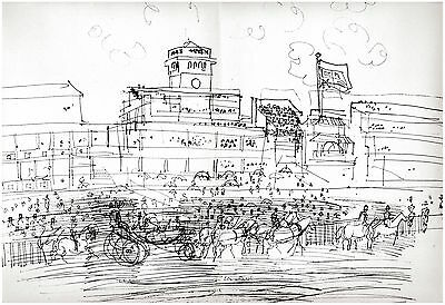 Raoul DUFY - PFERDERENNEN in ASCOT - 1953 - Orig.Lithographie aus ILLUMINATIONS