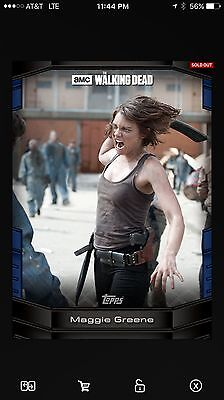 Topps The Walking Dead Digital Card Trader Maggie Greene Blue Walker Kills