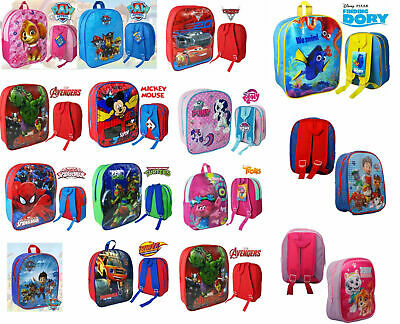 Boys Girls Character Backpack Kids School Lunch bags Books Travel Nursery Rucksa