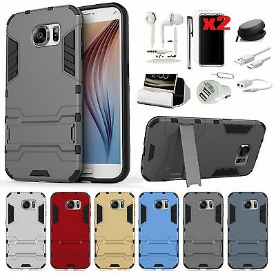 Case Cover+Dock Charger+Earphones Accessory For Samsung Galaxy S7 Edge S8 S8+