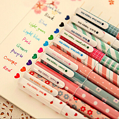 One Pack 10pcs Gel Pens Set Water-based Pen Art Craft For School Office Supplies
