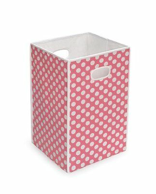 Badger Basket Folding Hamper/Storage Bin Pink Other Nursery Furniture Baby