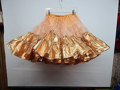 60 Yd Crystal Organza And Copper Lame' Square Dance Petticoat