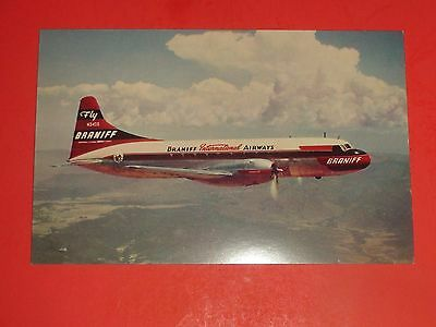 ZX754 Vintage Postcard The Super Convair 340 Braniff International Airways