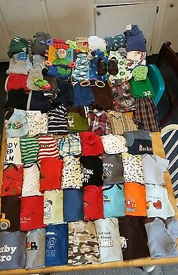 Huge 82 piece lot baby boy clothes size 6-9 month and 9 month shirts,shorts,etc.