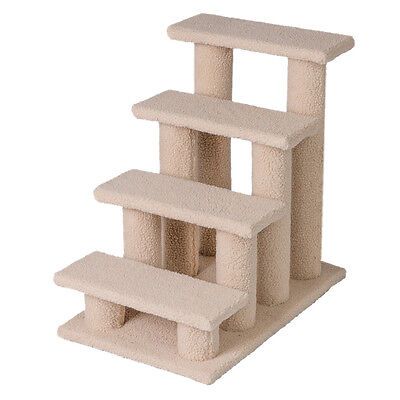 "25"" 4 Steps Pet Stairs Ladder Ramp Scratching Post Cat Tree Climber for Cat Dog"
