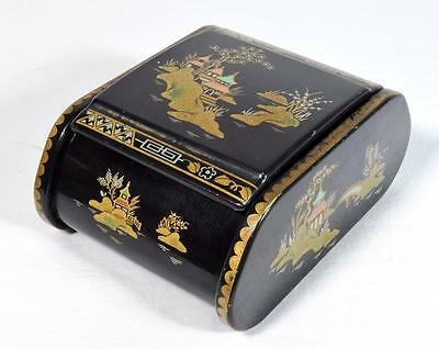 Art Deco Cigarette Box C.1930s Chinoiserie Design