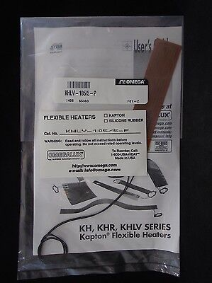 "NEW OMEGA Kapton 5 x 1"" Etched Foil 28V Insulated Flexible Heater KHLV-105/5-P"