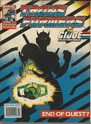 Marvel Comics 1990 TRANSFORMERS Issue 293 **FREE POSTAGE** Deals for Multibuys