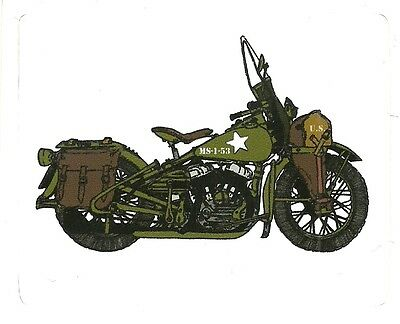 ARMY MILITARY  MOTORCYCLE  Sticker Decal