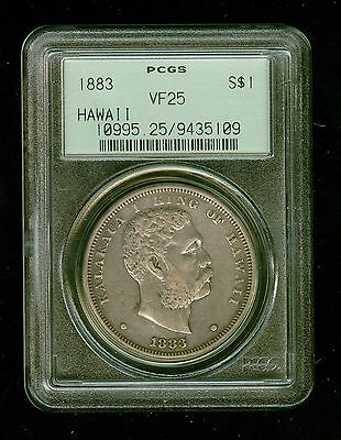 1883 Hawaii  $1       PCGS VF25        SCARCE COIN!                          E