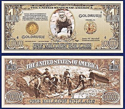 25-49er's California Gold Rush Million Dollar Bills Collectible- MONEY- P2