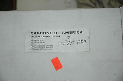 "3 Carbone America Graphilor Series 3 1"" 85 PSIG Burst Rupture Disc 13600CFM NOS"