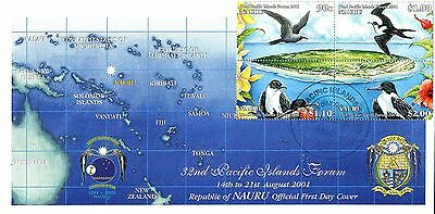 Nauru 2001 Pacific Islands Forum birds  FDC