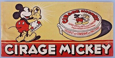 Vintage 1930's Mickey Mouse Advertisement for shoe polish - Cirage