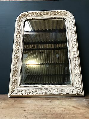 19th Century Antique French Painted Foxed Mirror