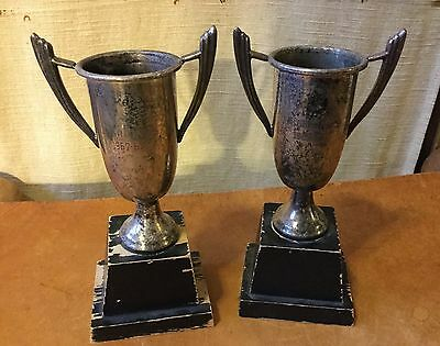 antique Silverplate Art Deco Trophy Pair, Trophies