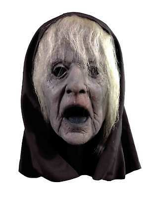 The Wraith Witch Hag Nameless Ghost Halloween Adult Costume Mask with Black Hood