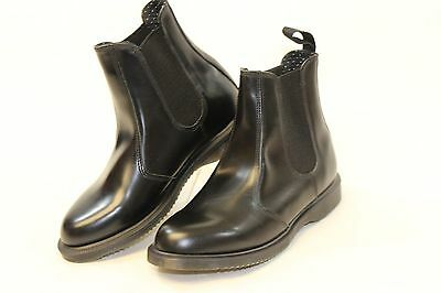 Dr. Martens Flora NEW Womens 7 38 Black Leather and Gore Ankle Boots on